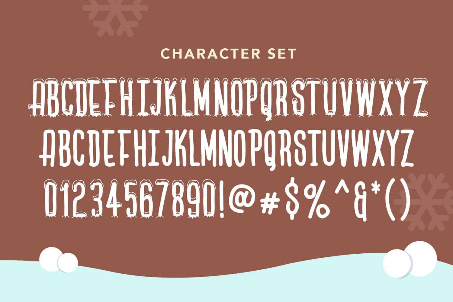 The Free Winter Themed Font Characters