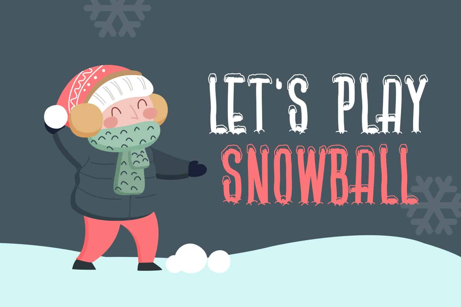 The Free Winter Themed Font Example