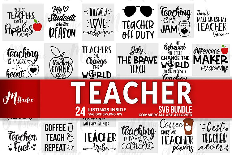 Teacher SVG Design Bundle