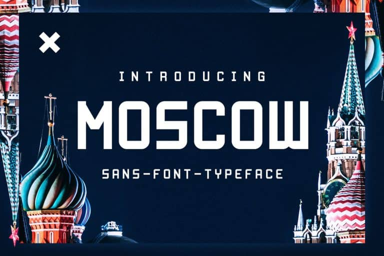 FREE – MOSCOW Inspired Display Font
