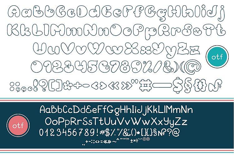 Double Bouble Font outline