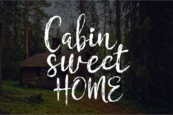 Cabin Sweet Home - Free Chamille Font