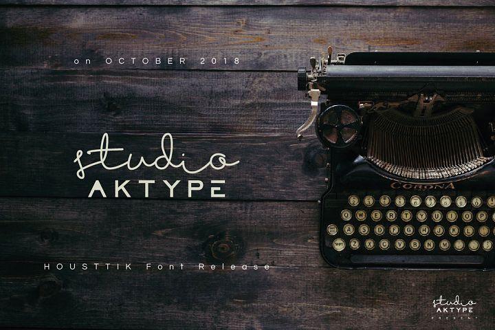 Free Housttik Handwritten Script Font looks stylish