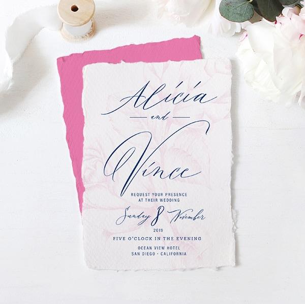 Free Victoria Script Font and Wedding Card Mockup