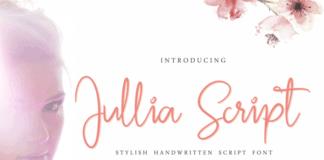 Free Handwritten Script Font Jullia