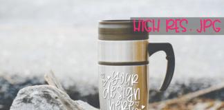 Free travel mug mockup