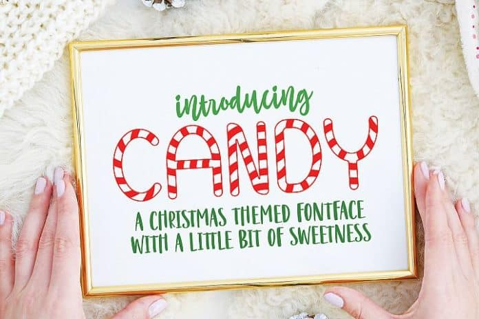 Free Christmas Candy Font