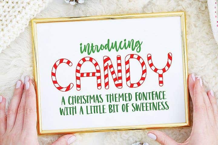 FREE – Candy Christmas Font