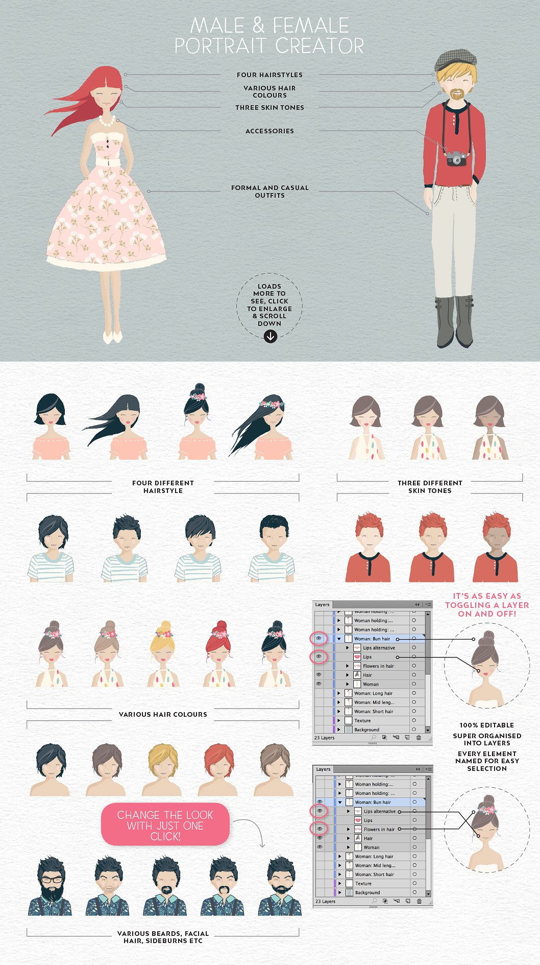 Create your own avatars with Portrait Creator
