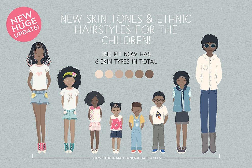 Multiple Skin Tones with the Portrait Creator