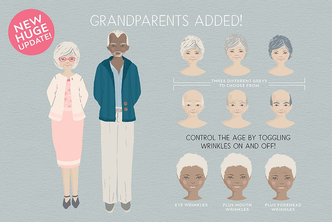Create Grand Parents with the Portrait Creator