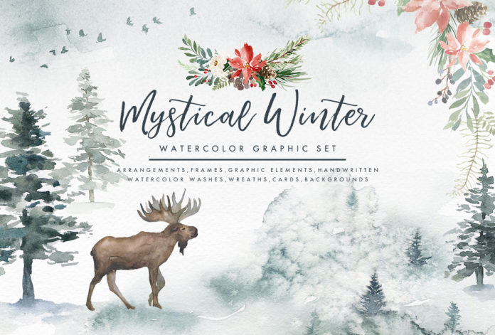 Mystical Watercolour Illustrations for Christmas