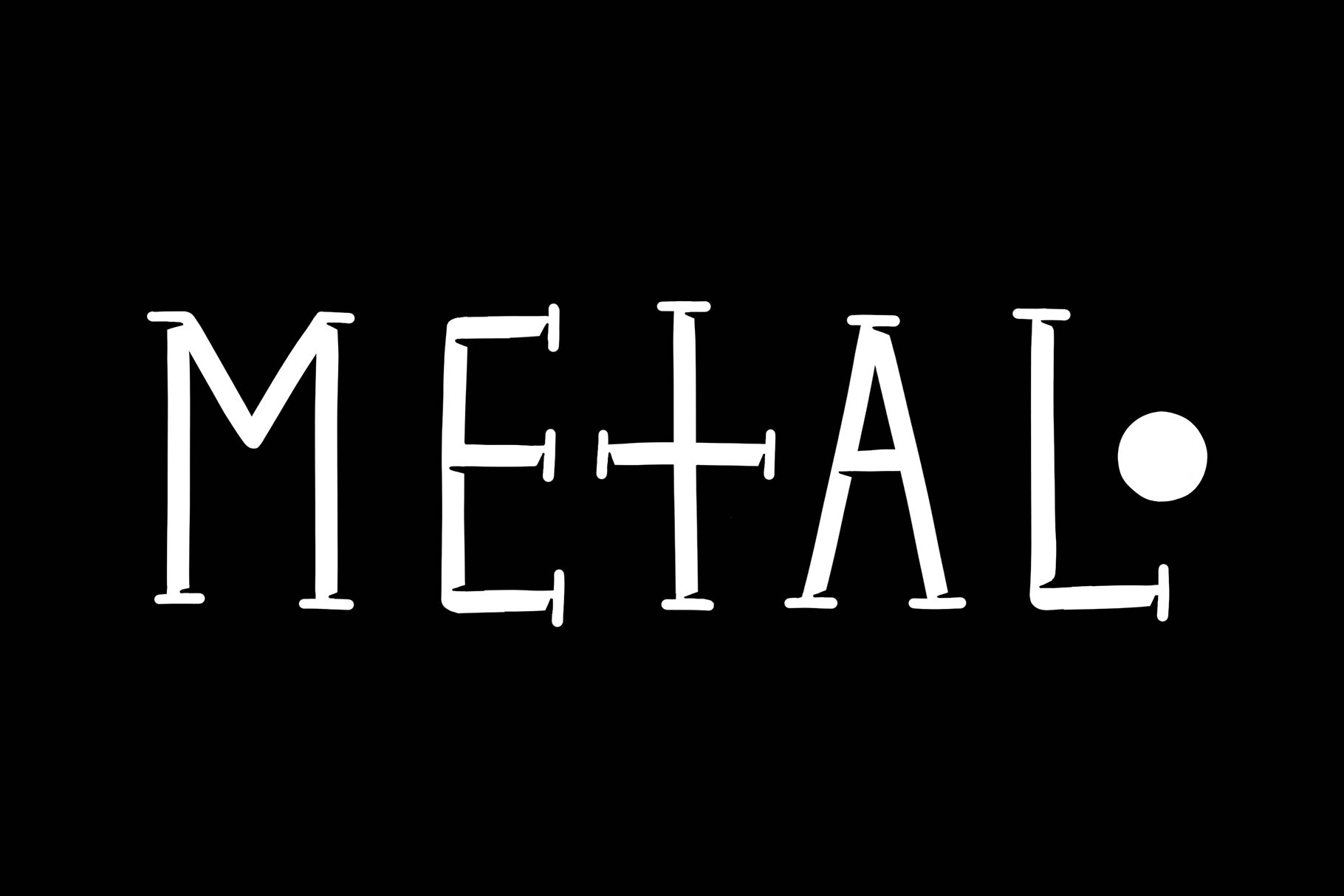 METAL – Gothic Font