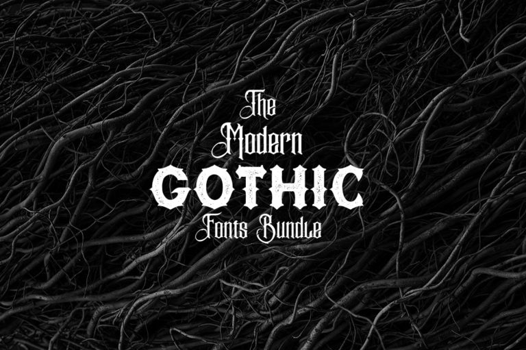 The Modern Gothic Fonts Bundle
