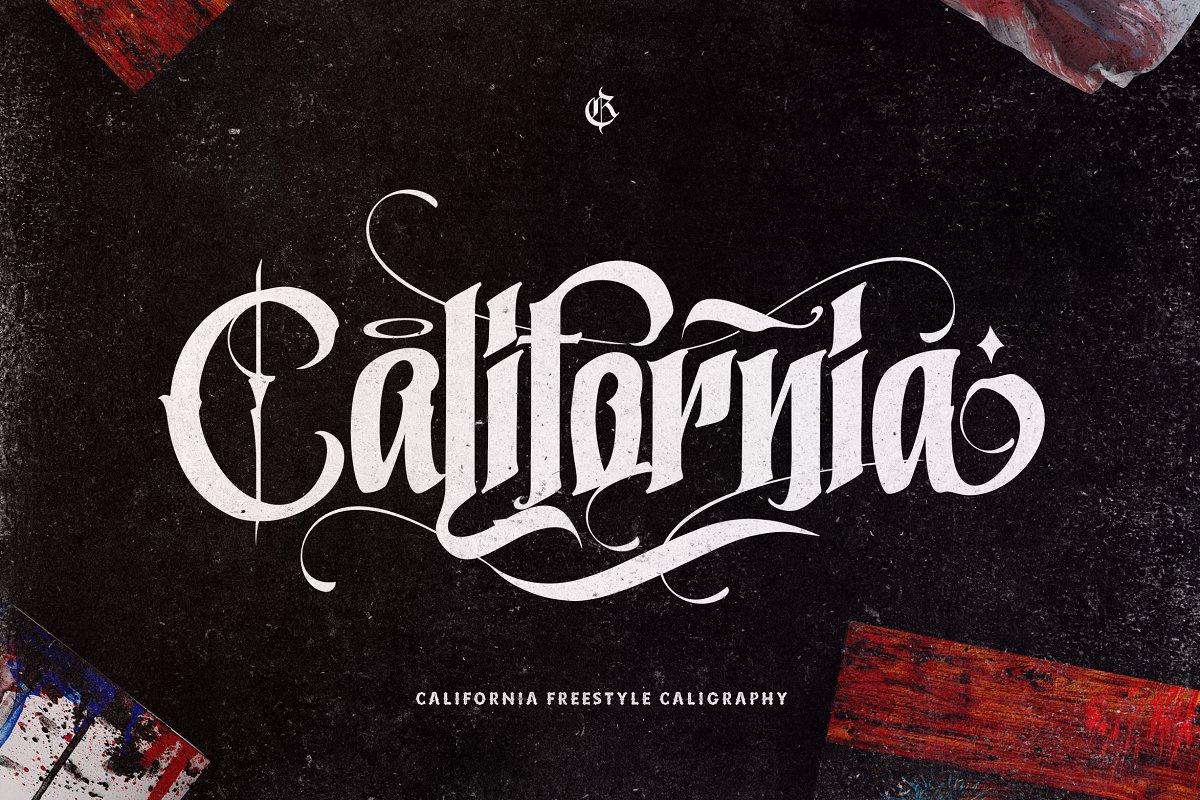 California Caligraphy Font