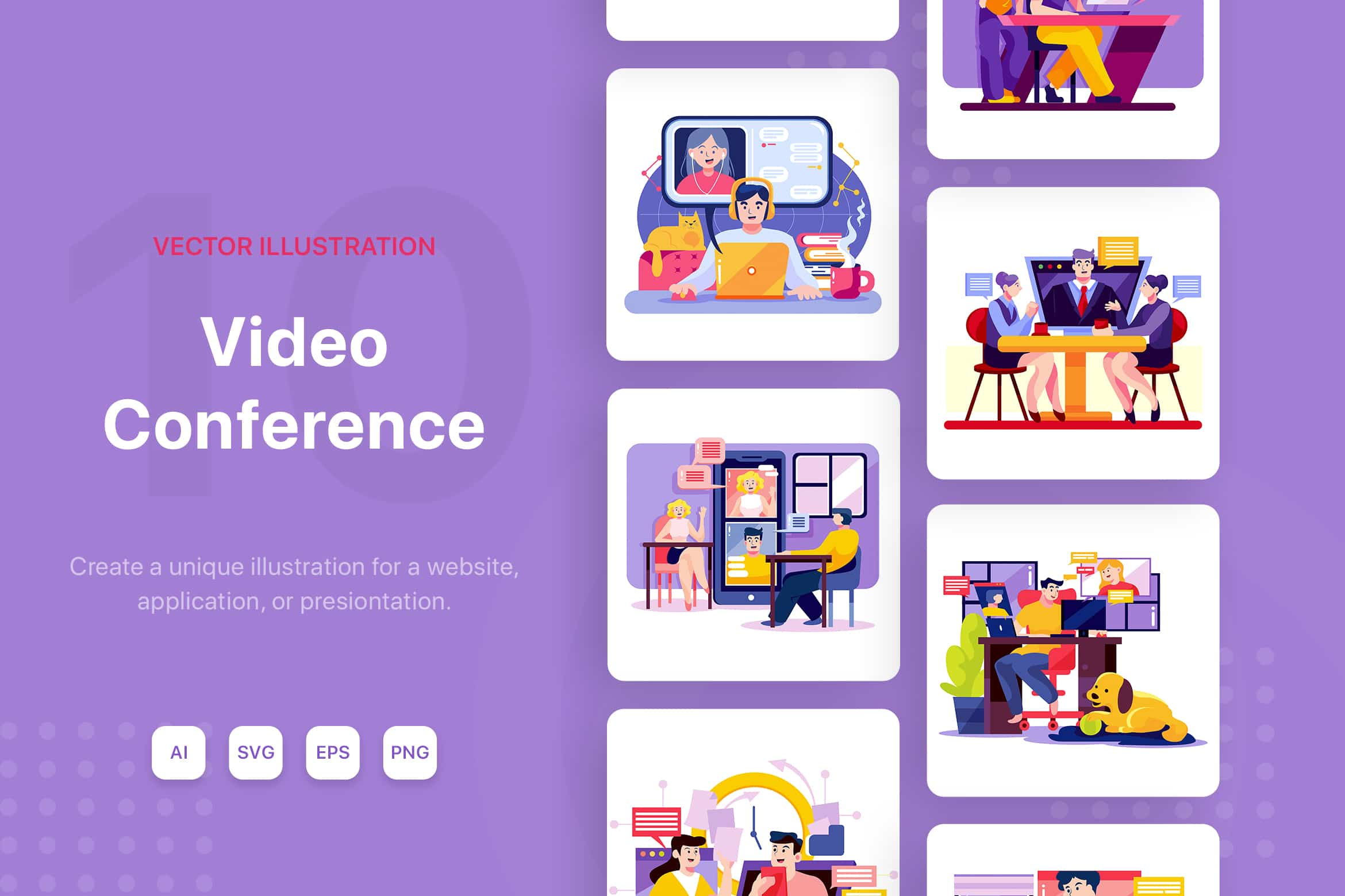 Online Meeting Illustrations By Hoangpts