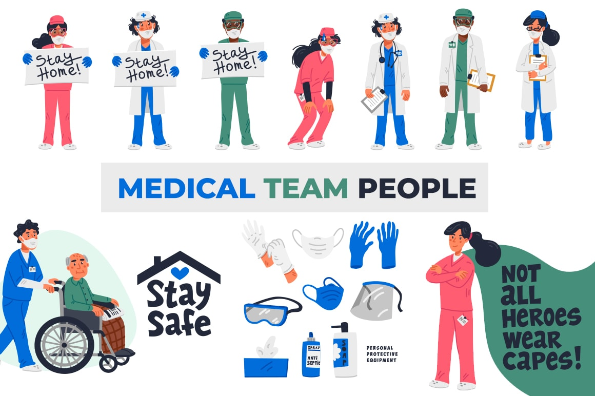 Medical - Team - People Vector Illustrations By Mspoint