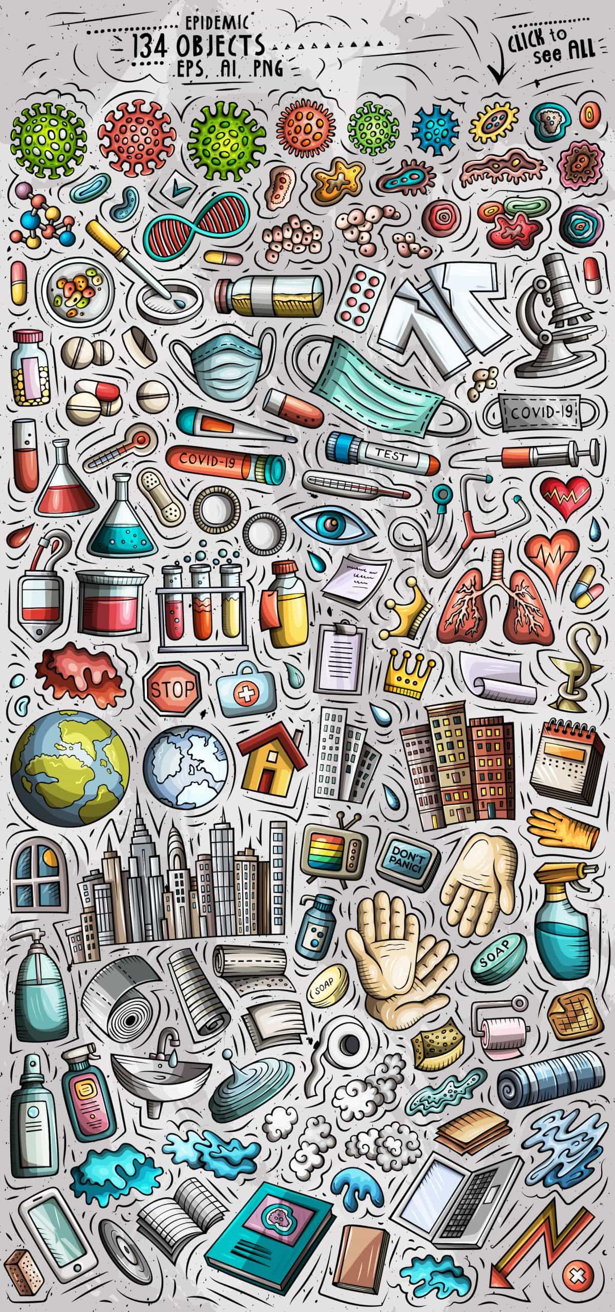 Epidemic Objects Set By Balabolka