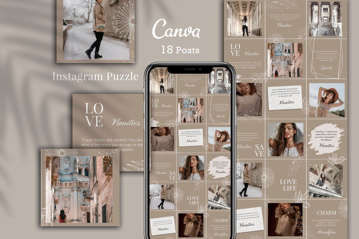 Canva puzzle Instagram Template