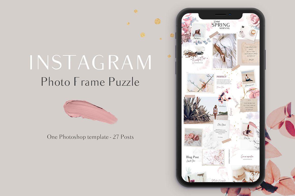Spring Instagram Puzzle Template