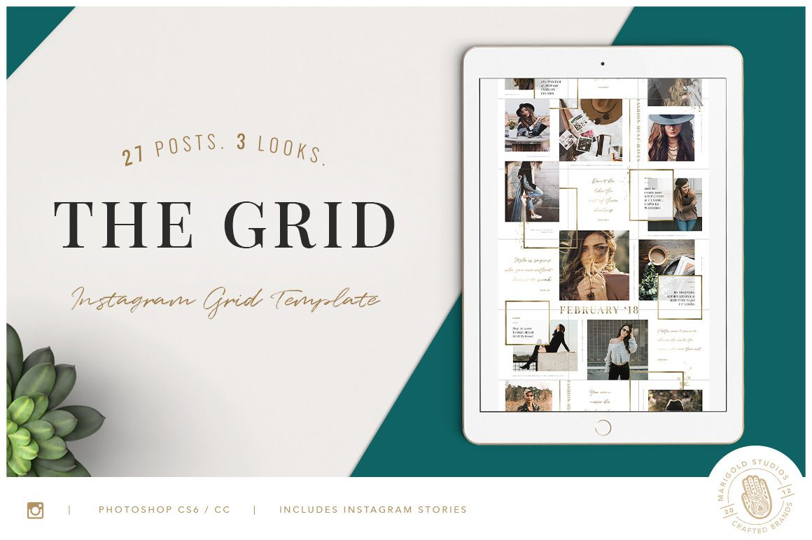 The Grid Instagram Template