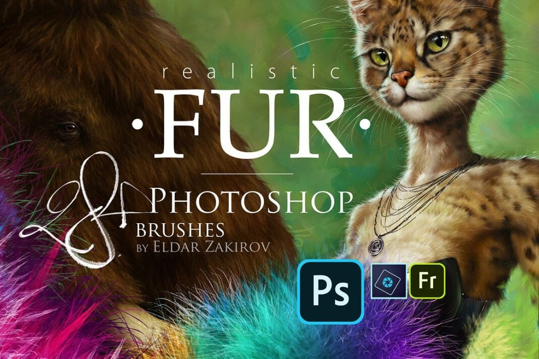 Realistic Fur Brushes for Photoshop