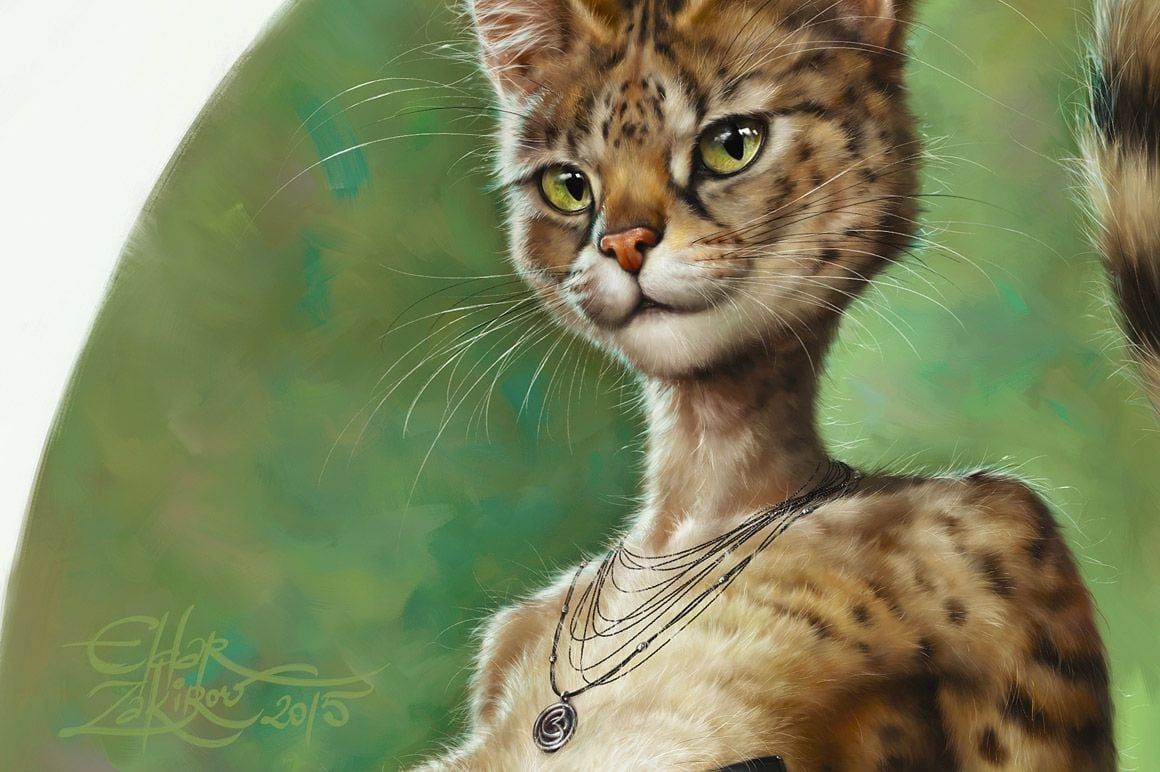Realistic Cat Fur - Realistic fur brushes for Photoshop