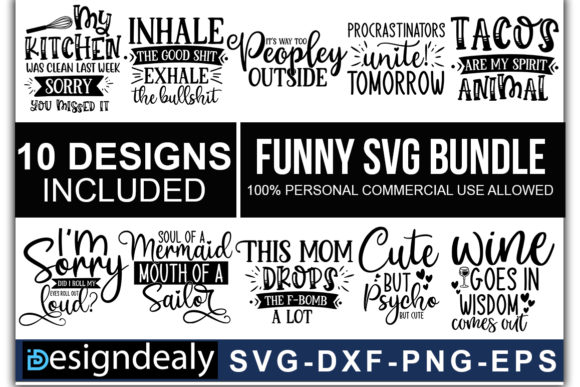 Funny Quotes Bundle 01 Graphics 1 1 580x387 1