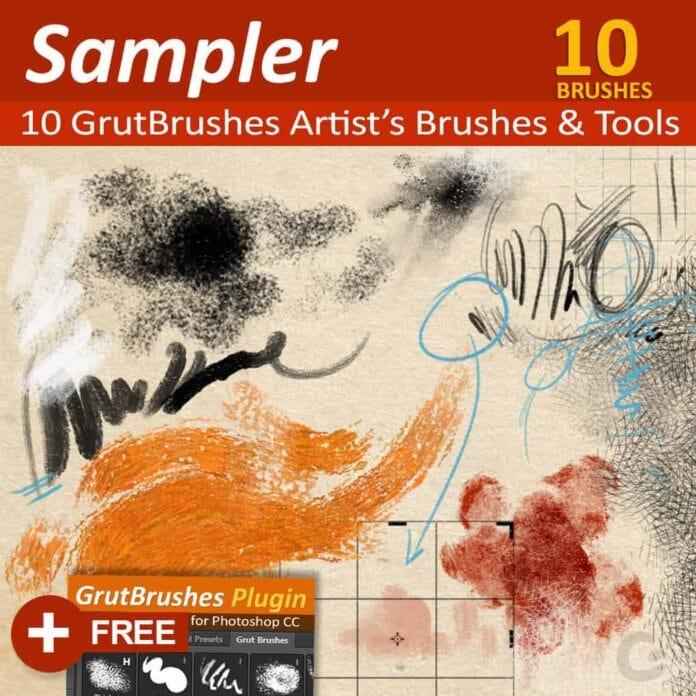 GrutBrushes Photoshop Brush Sampler Set 01
