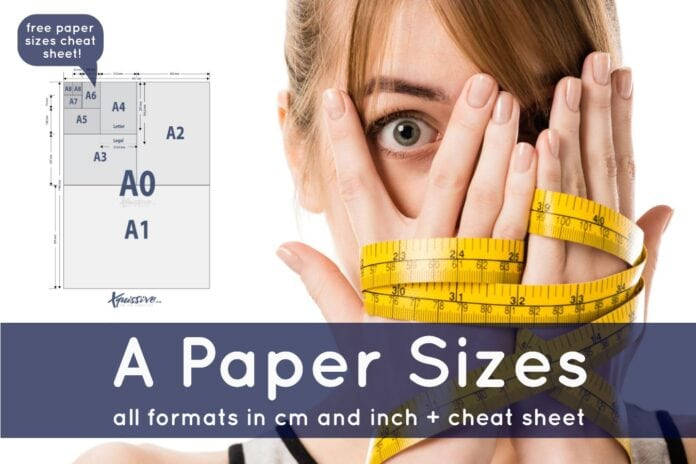 A paper sizes and paper sizes cheat sheet