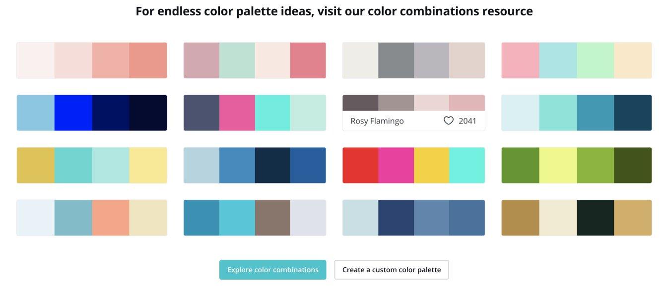 Canva Colour Palette Ideas