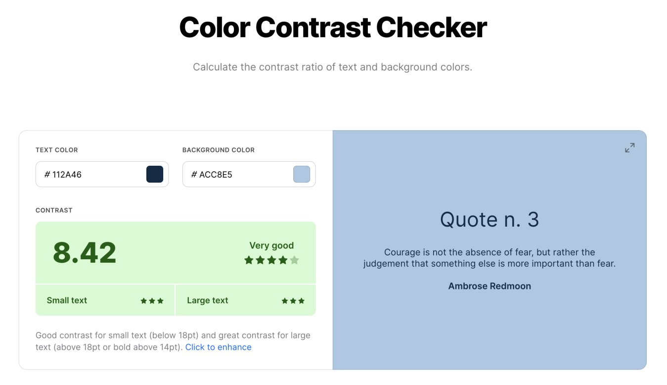 Colour Contrast Checker from Coolor