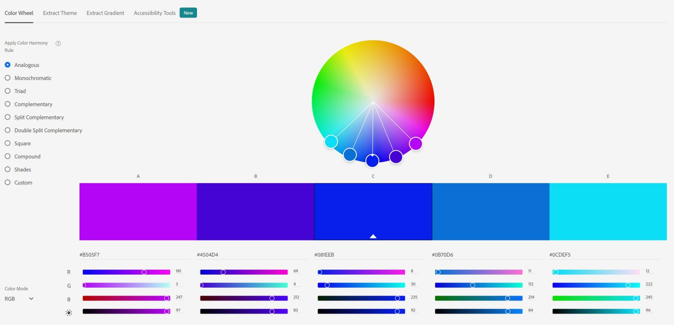 Adobe Colour Wheel - Colour Palette Generator