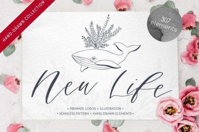 Free New Life Illustration Bundle by Luba Vega