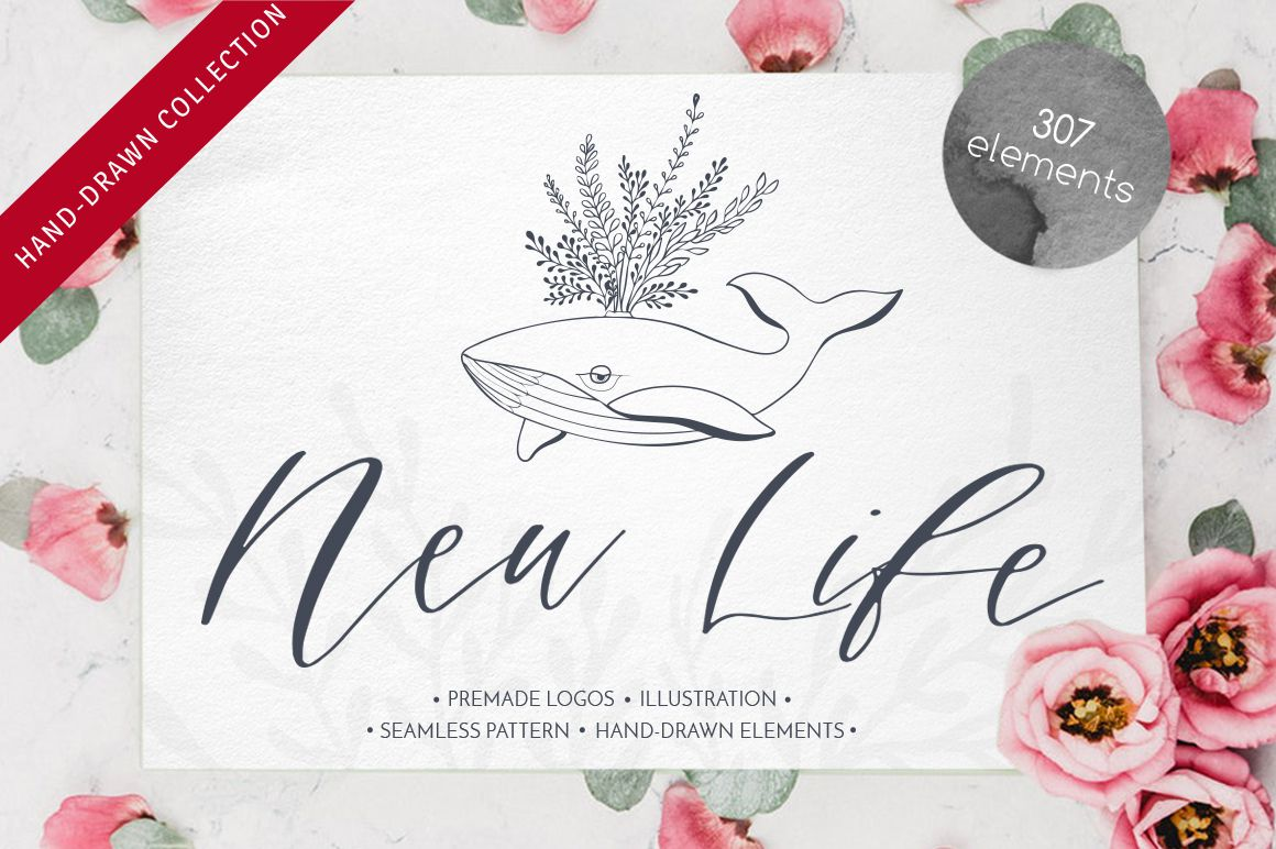 Free New Life Illustration Bundle by Luba Vega