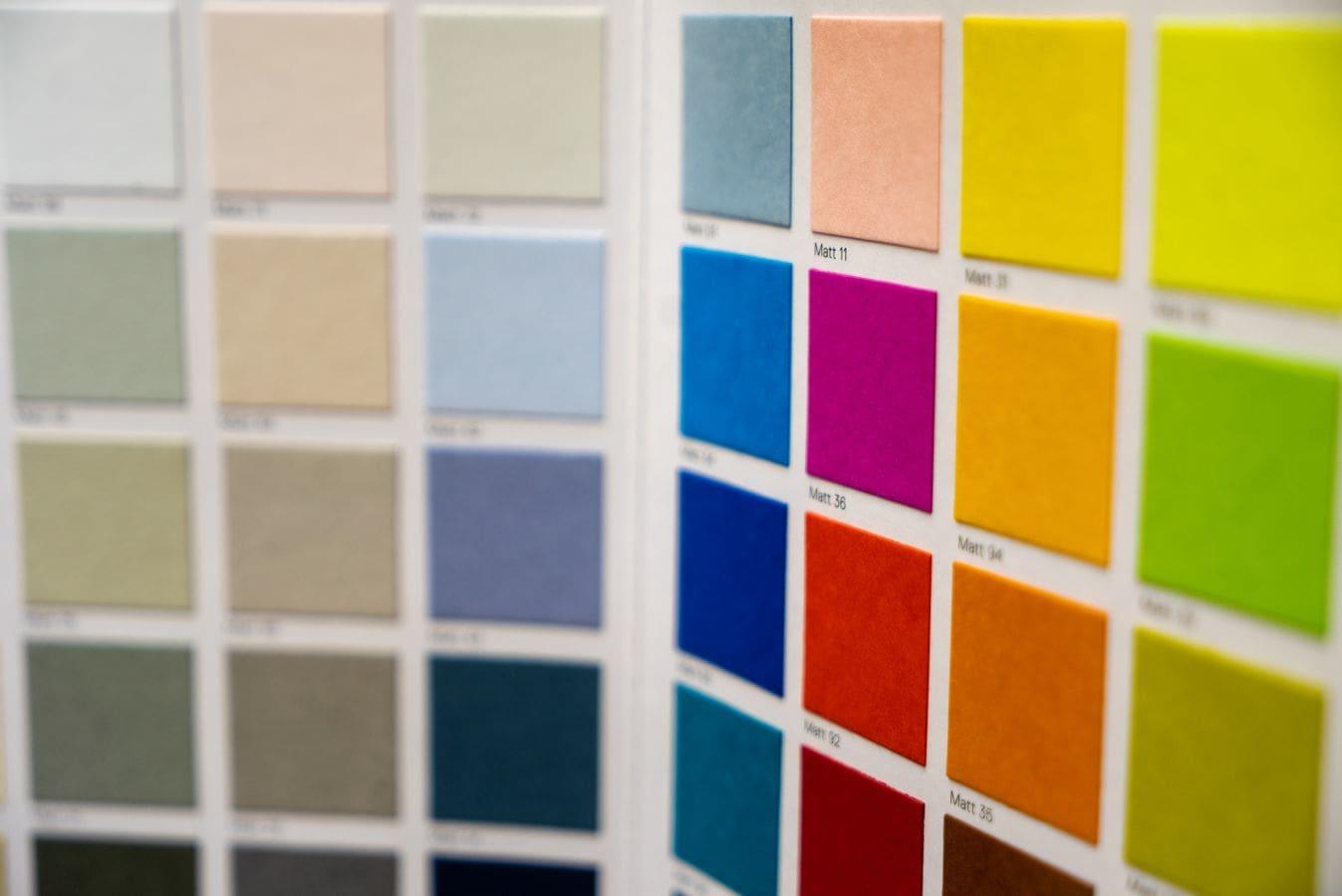 Factors to consider when choosing colour palettes