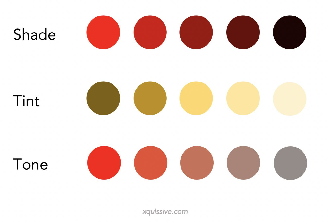 shade tint tone- colour theory - xquissive.com