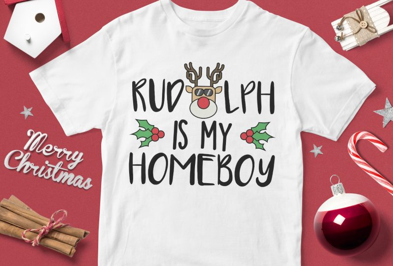 Rudolph is my Homeboy design for Christmas