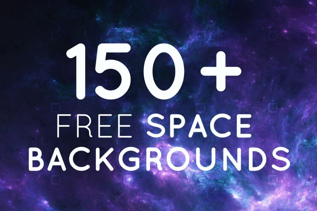 150+ free space backgrounds