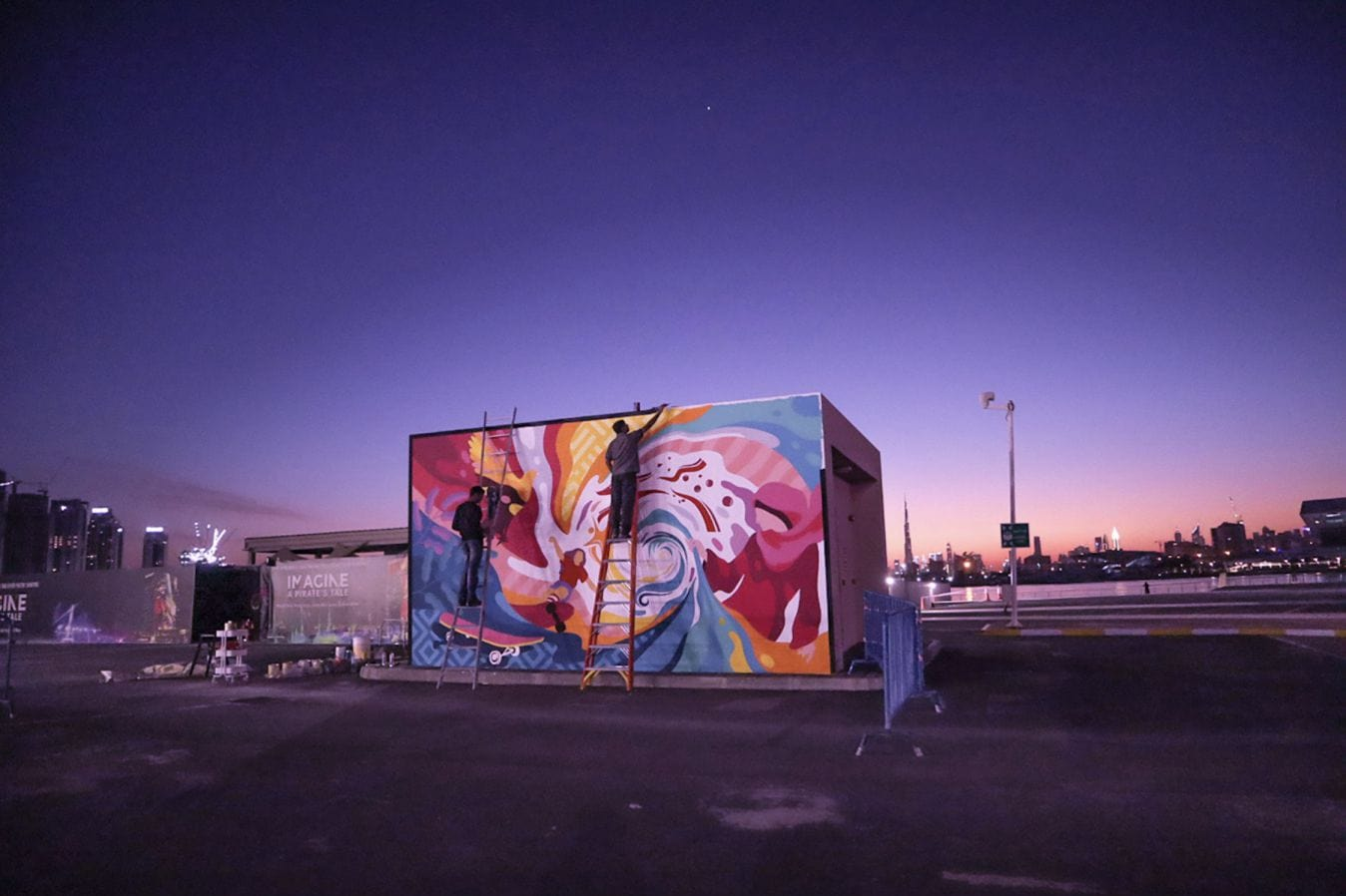 Shahul Hameed - mural and street artist Graffiti artwork