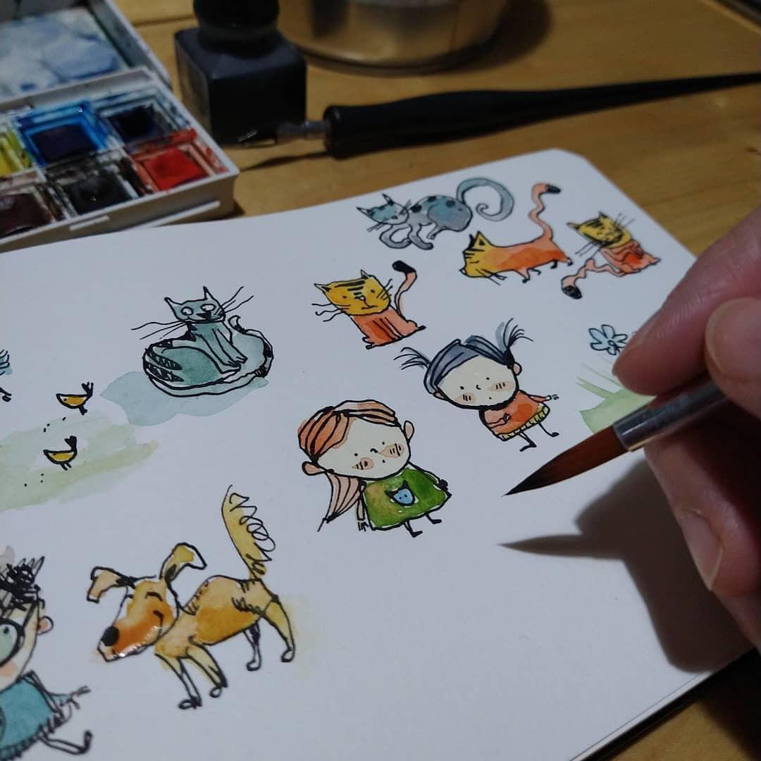 Sketchbook illustrations by CATRU