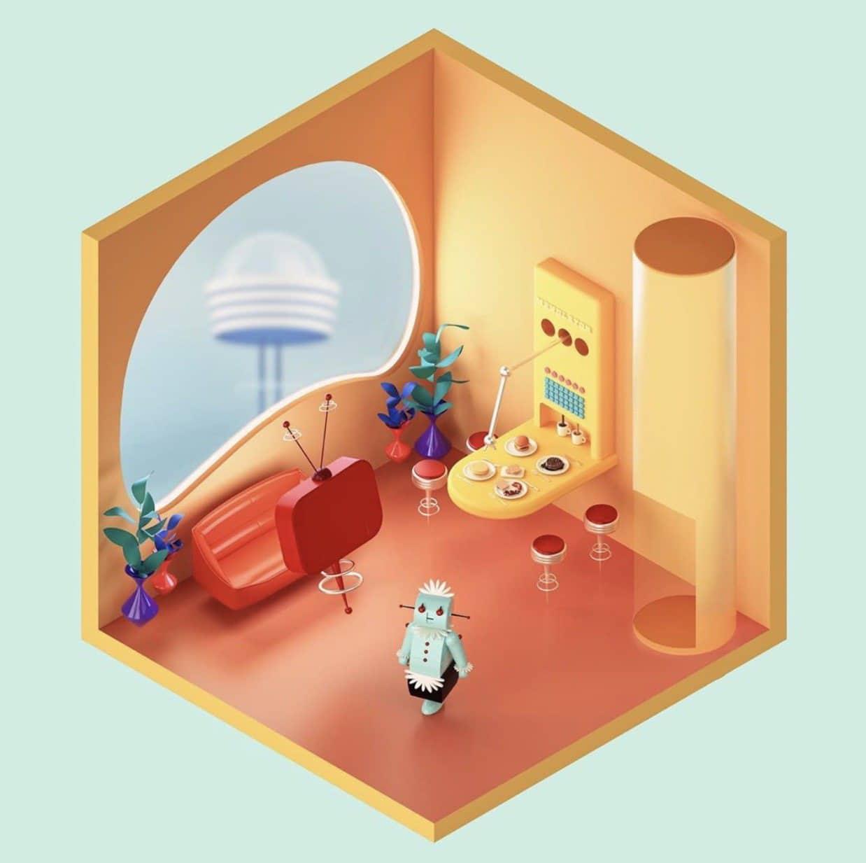 Isometric futuristic by Amrit Pal Singh