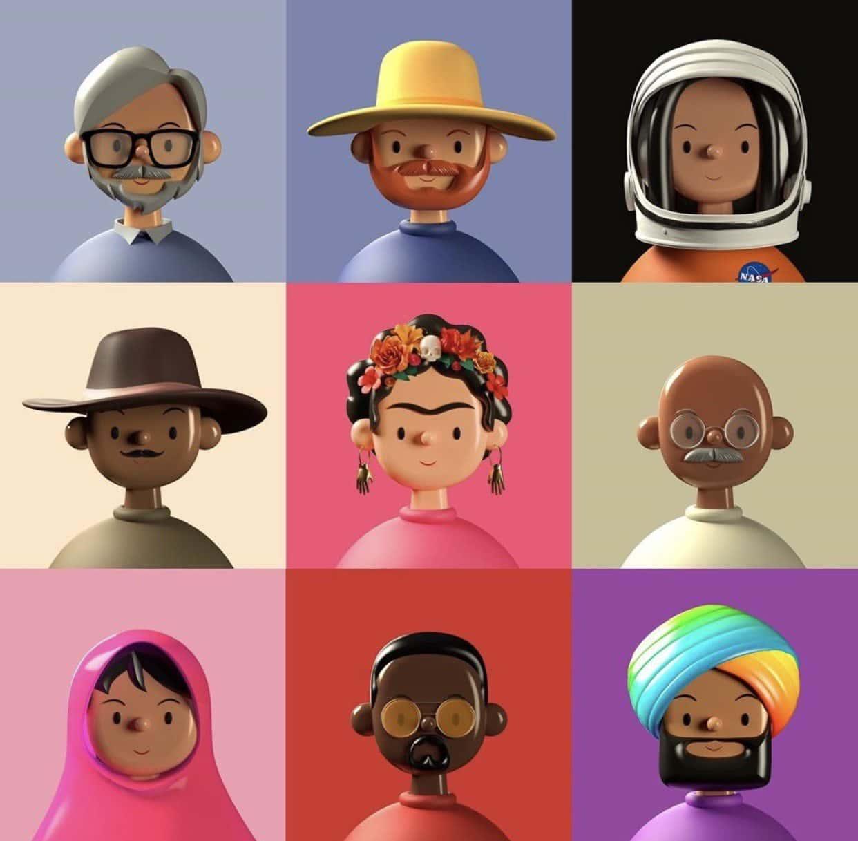 3d avatar designs by Amrit Pal Singh