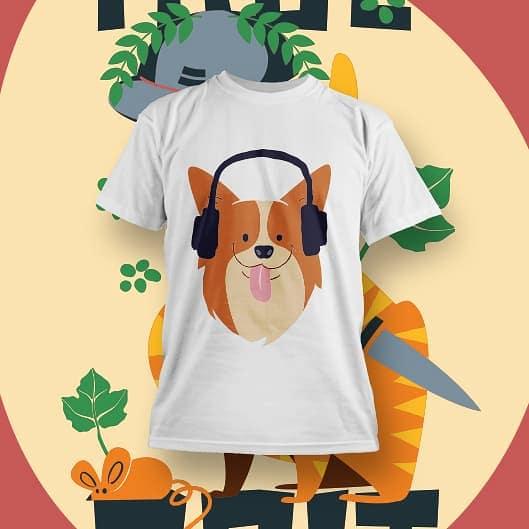 Animal designs for Print on Demand