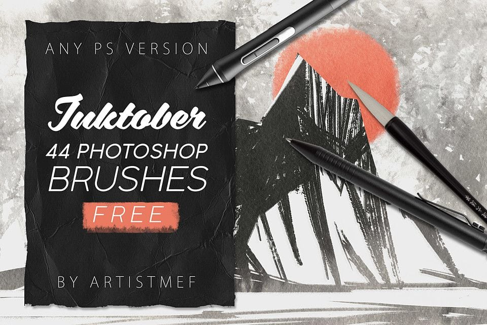 Free Ink Brushes for Photoshop