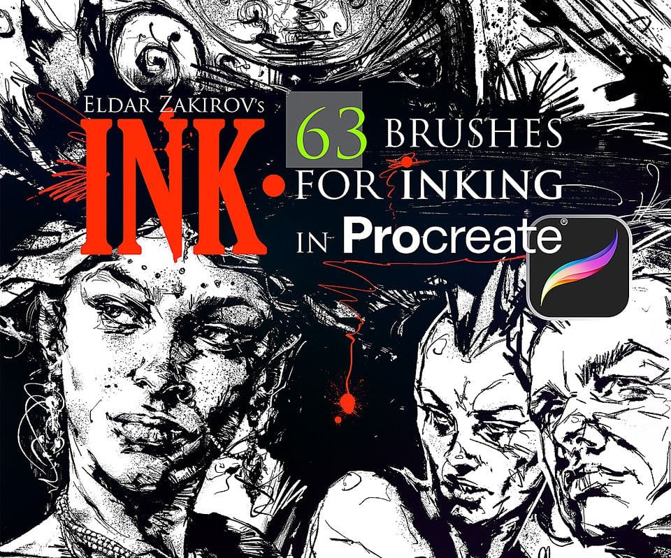 63 Ink Bruhses for Procreate