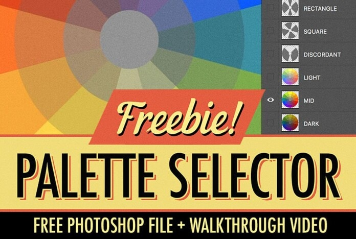 Free Palette Selector PSD