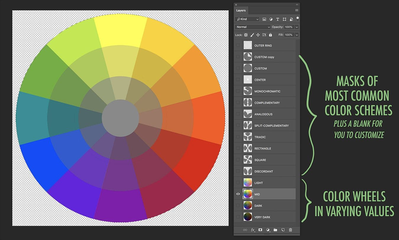 Free Colour Palette Selector PSD
