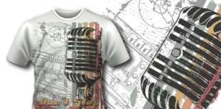 Free Retro Microphone T-shirt Design