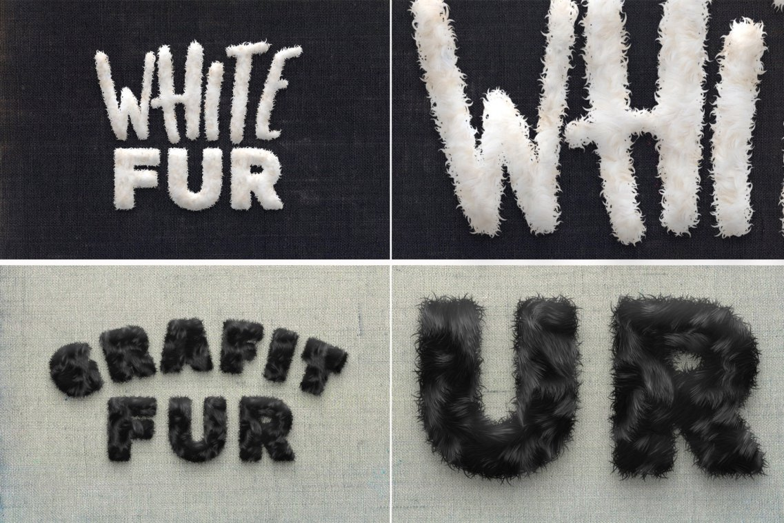 Fur Toolkit for Photoshop - Black and White fur